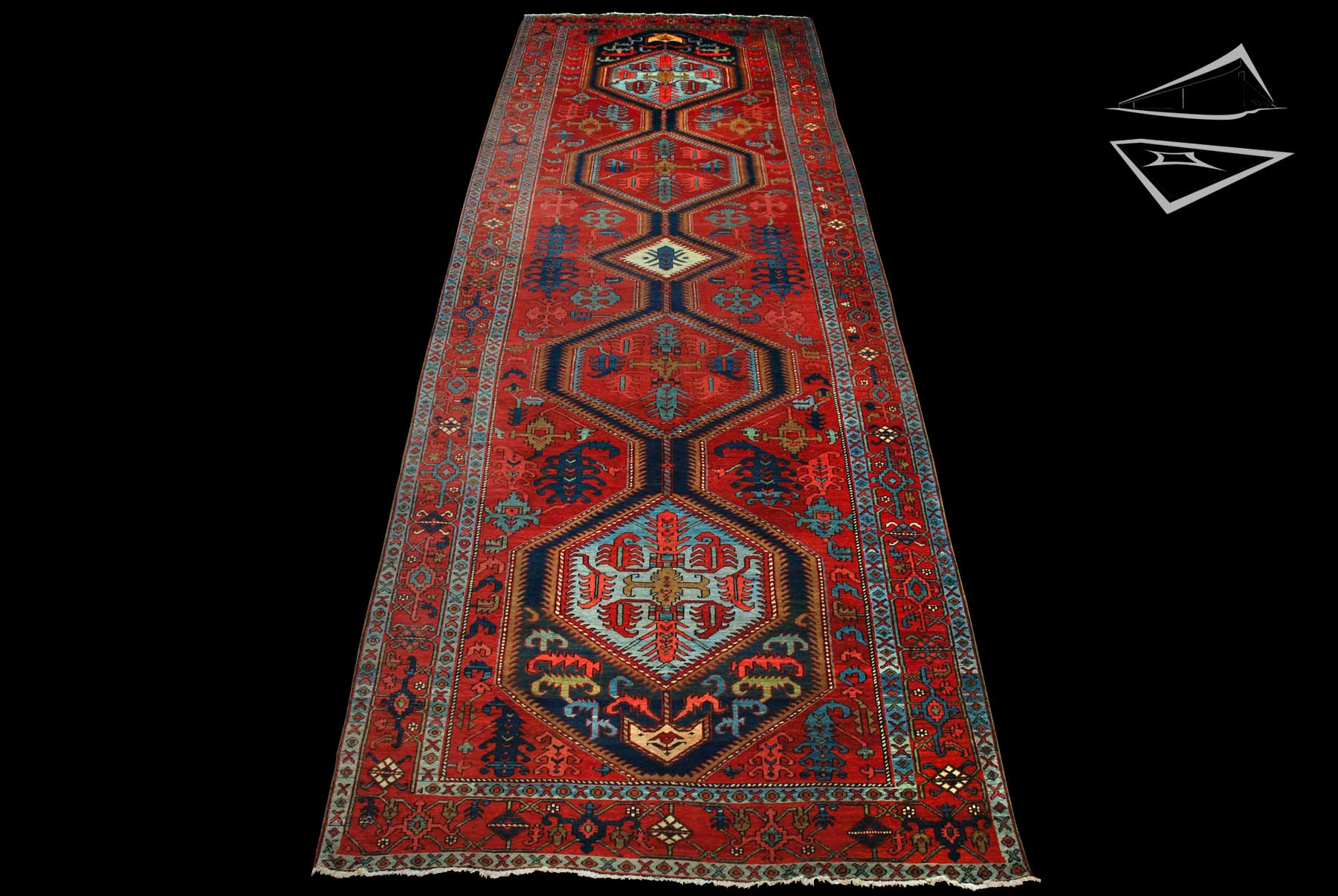 Persian heriz rug runner 6 39 x 17 39 for Runners carpets and rugs