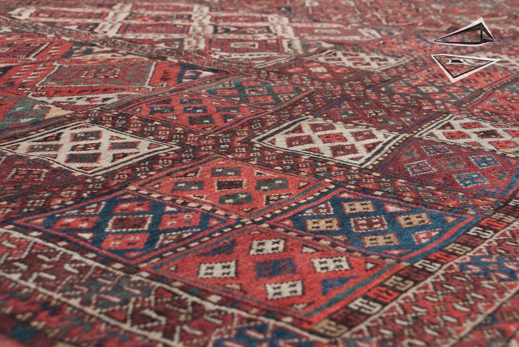 Antique Turkmen Rug 11 X 30