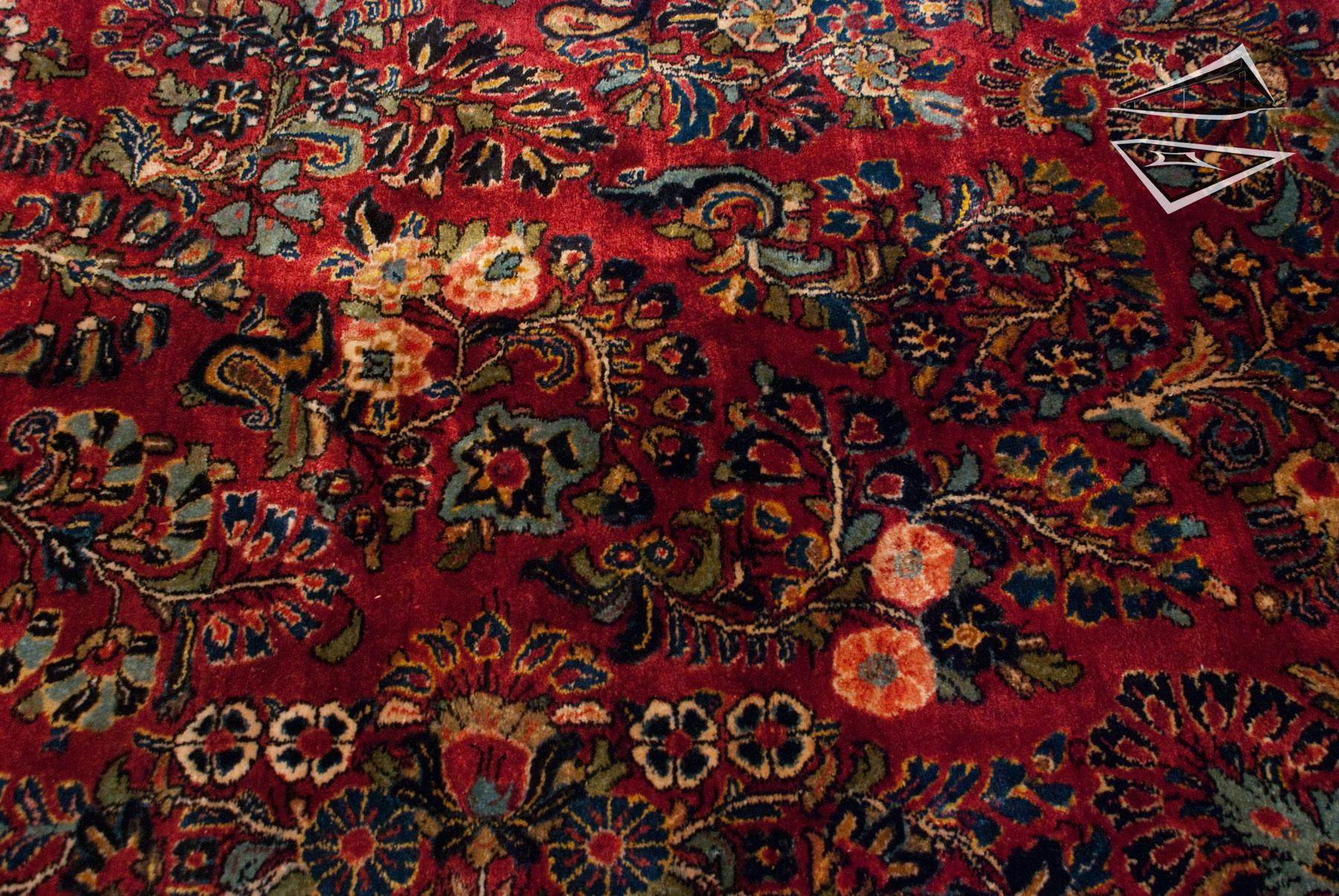 Persian Sarouk Rug 12 X 24