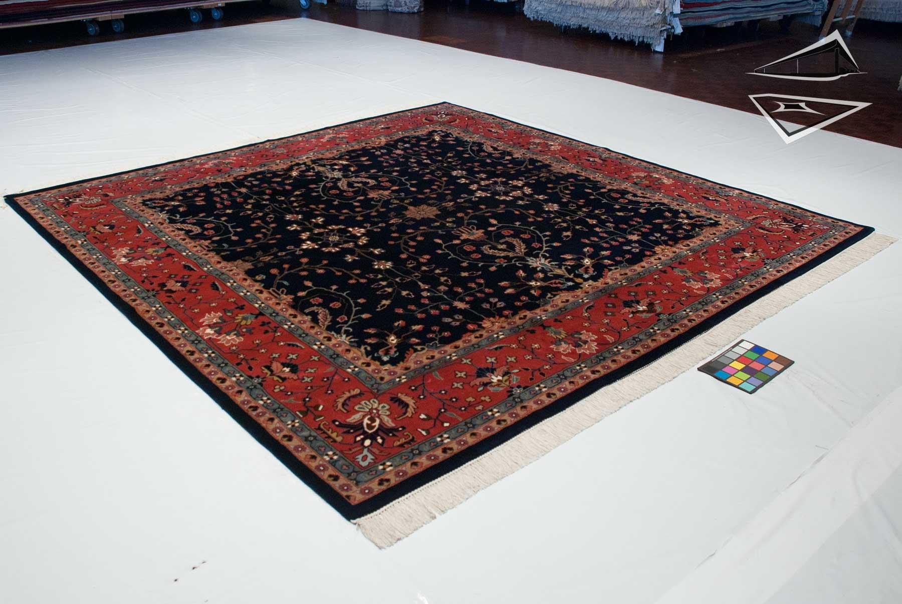 farahan sarouk design square rug 10 39 x 10 39. Black Bedroom Furniture Sets. Home Design Ideas
