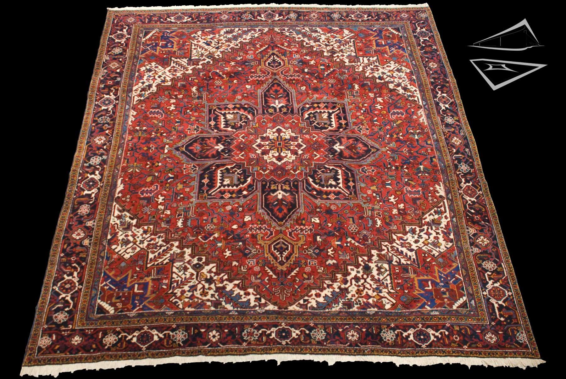 Persian Mehrivan Square Rug 11 X 12