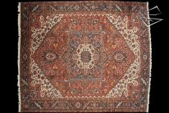 Persian Bakshaish Square Rug