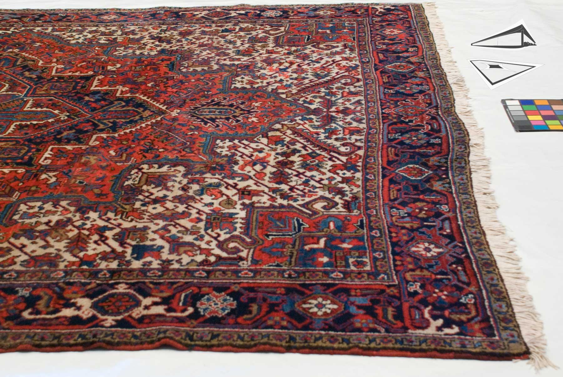 Persian Mehrivan Square Rug 10 X 11