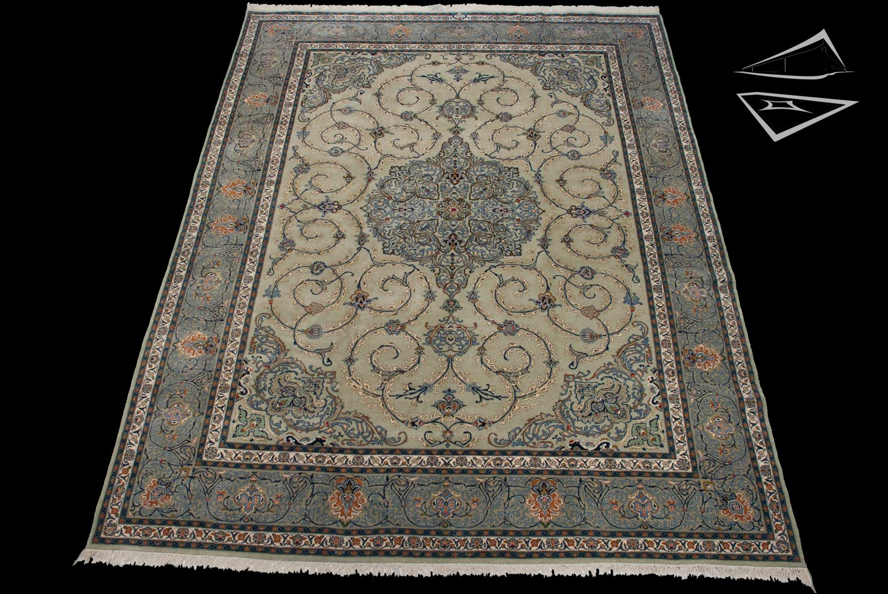 persian kashan rug 10 39 x 14 39. Black Bedroom Furniture Sets. Home Design Ideas