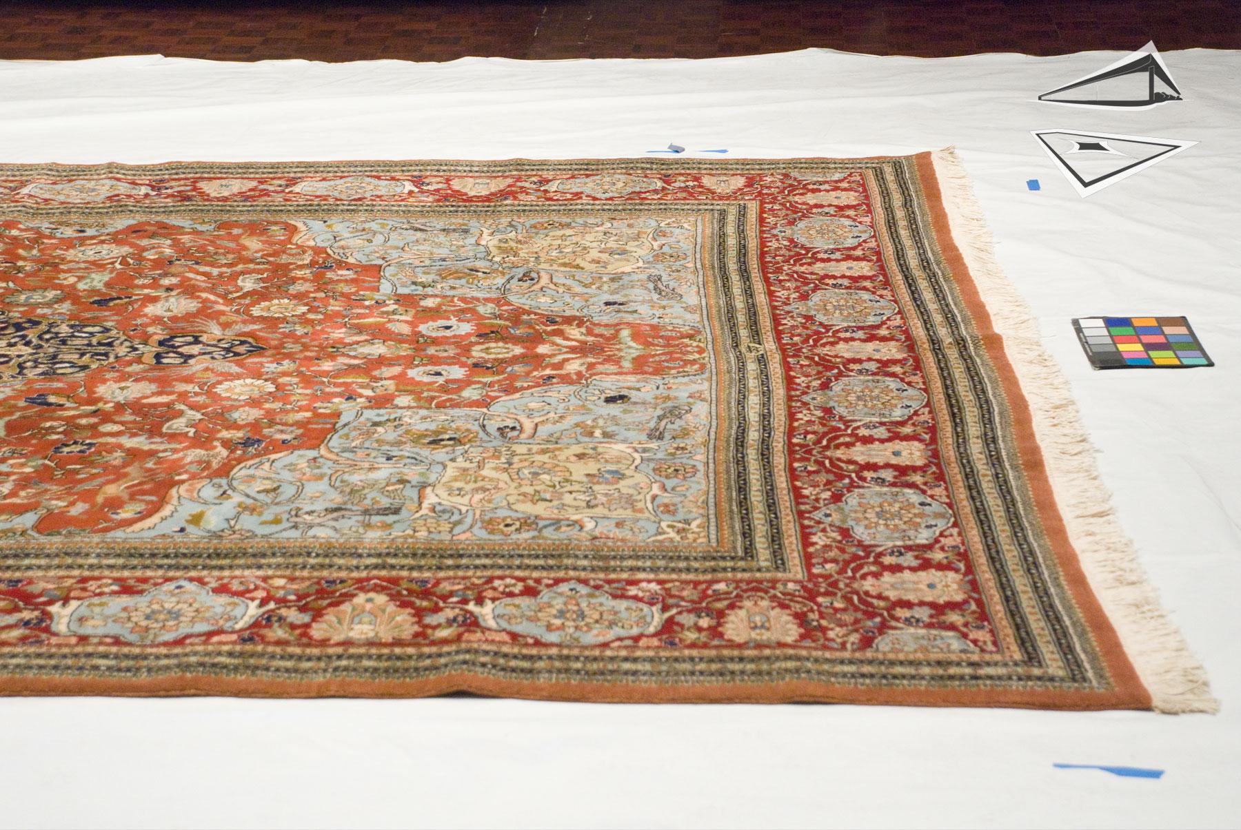 Persian Tabriz Square Rug 10 X 12