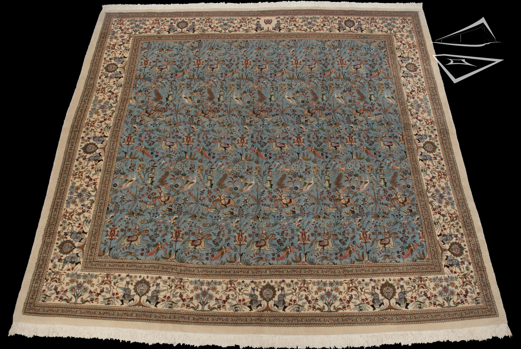 Square Persian Cyrus Crown 174 Tabriz Rug 12 X 12