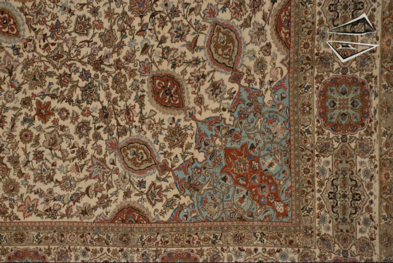 Persian Tabriz Rug 13 X 17 Ivory Ardabil