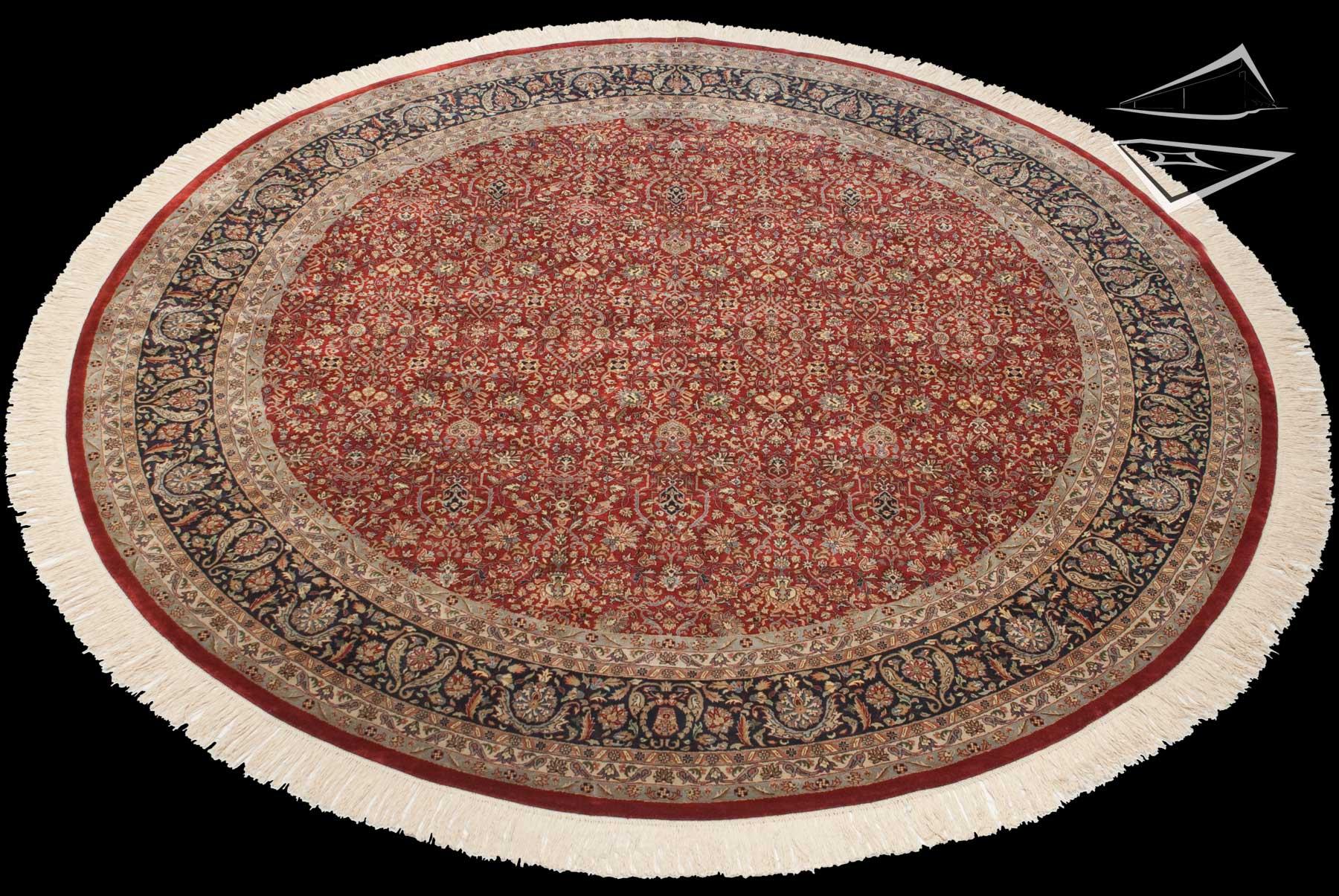 Tabriz Design Round Rug 12 X 12