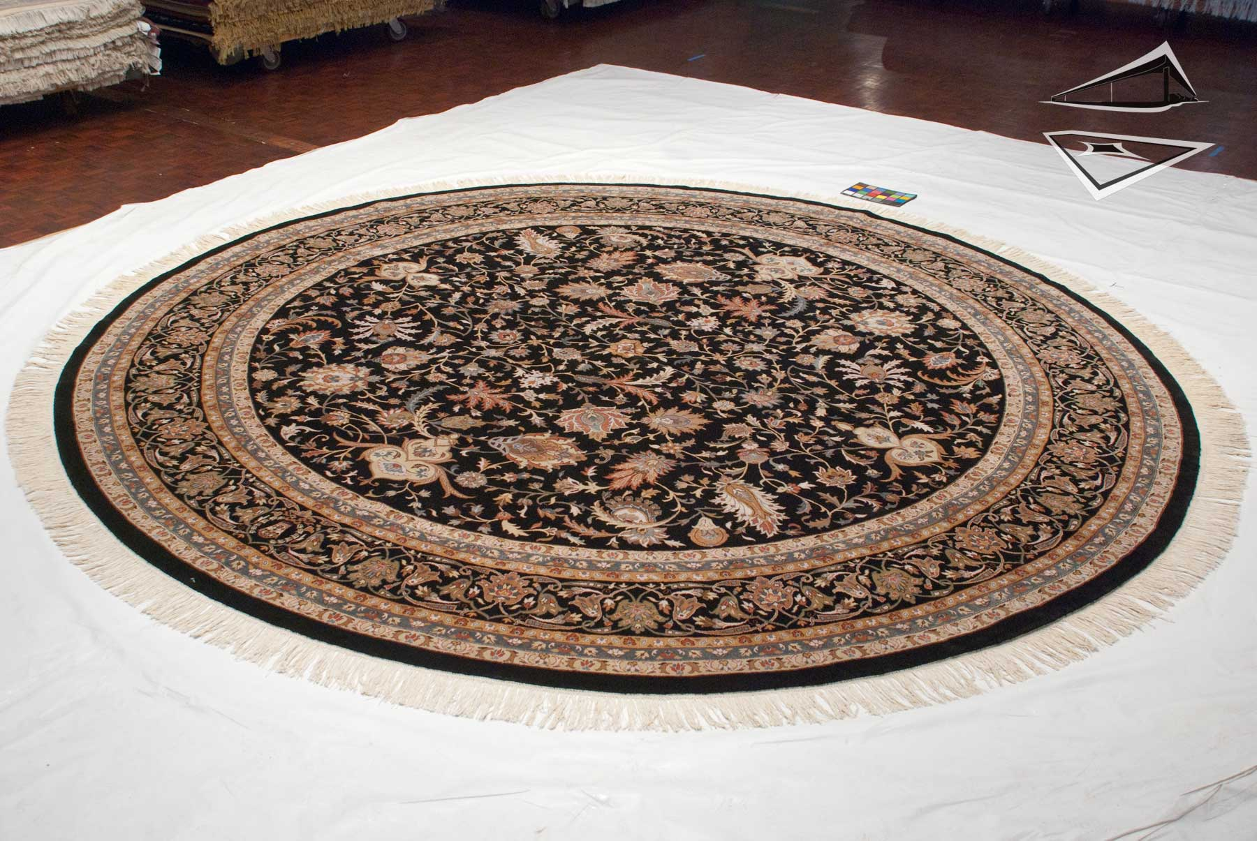 Isfahan Design Round Rug 12 X 12