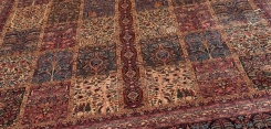 Antique Kerman Garden Design Rug