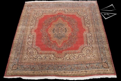 Persian Kerman Square Rug